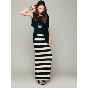Free People Rugby Striped Maxi Skirt / Dress